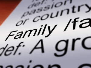 Family definition close up